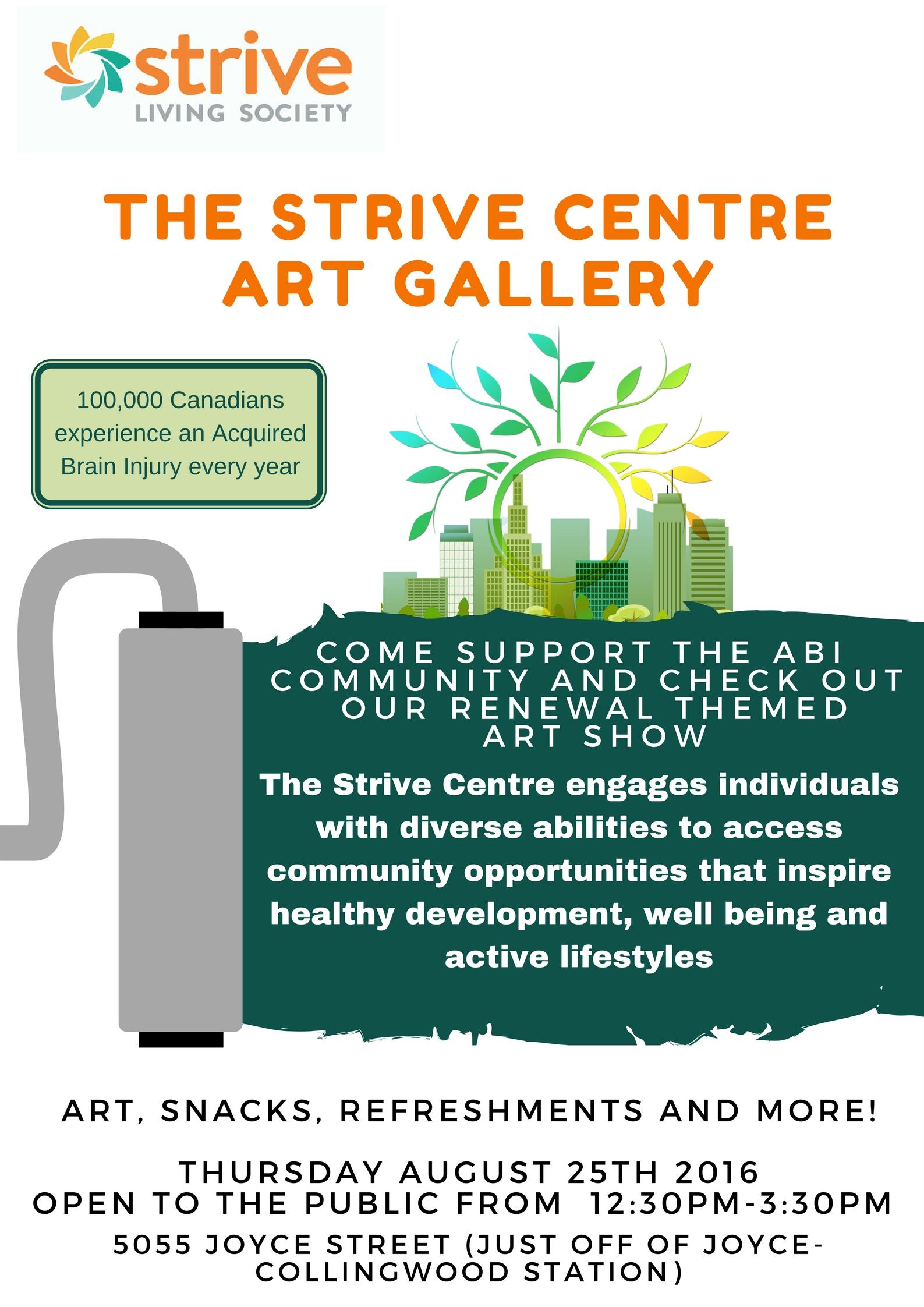 Poster for Strive Centre