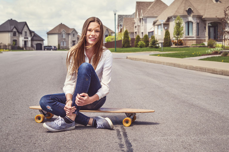 Girl-on-skateboard