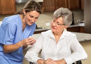 Home care nurse med assist
